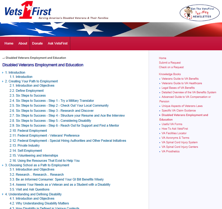VetsFirst's Employment Guide Highlighted as Resource on VA's eBenefits Portal